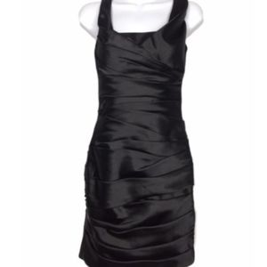 WHBM Satin Draped Sheath sleeveless Dress